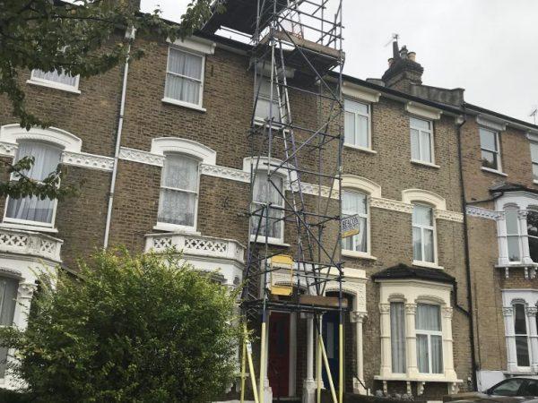 Domestic Scaffolding in Islington